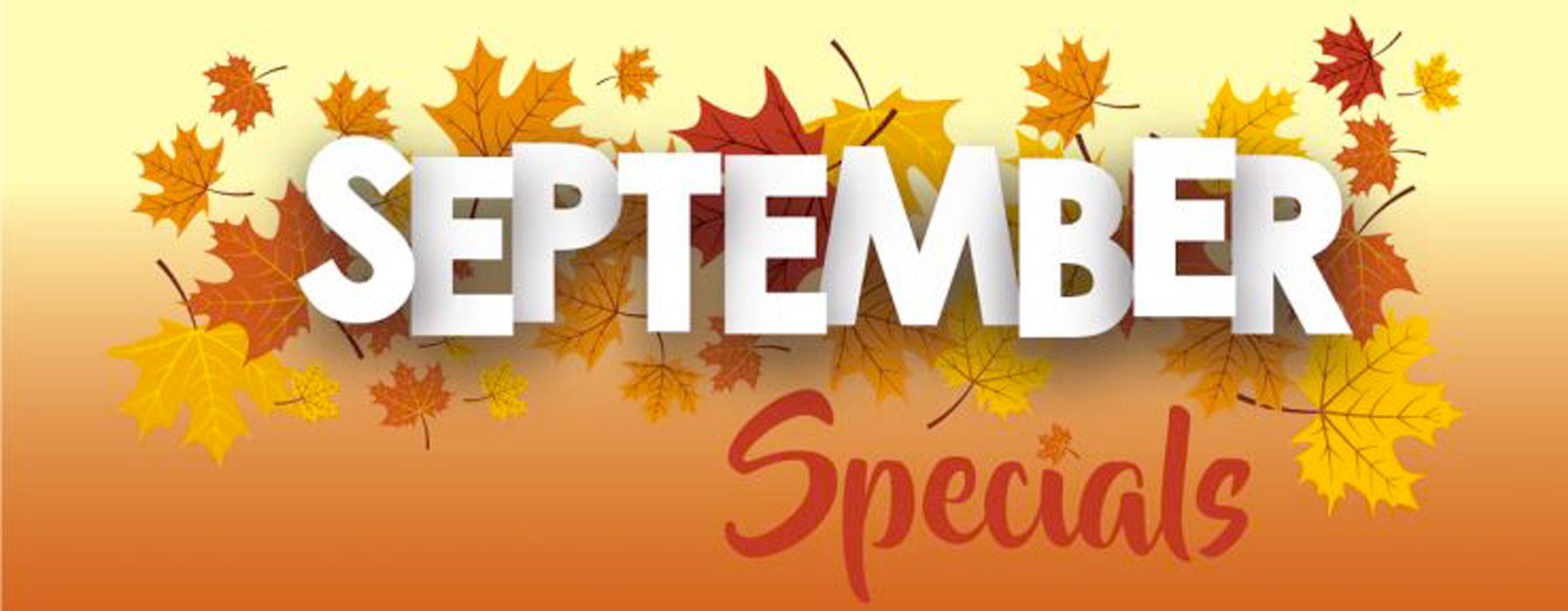 september spa specials