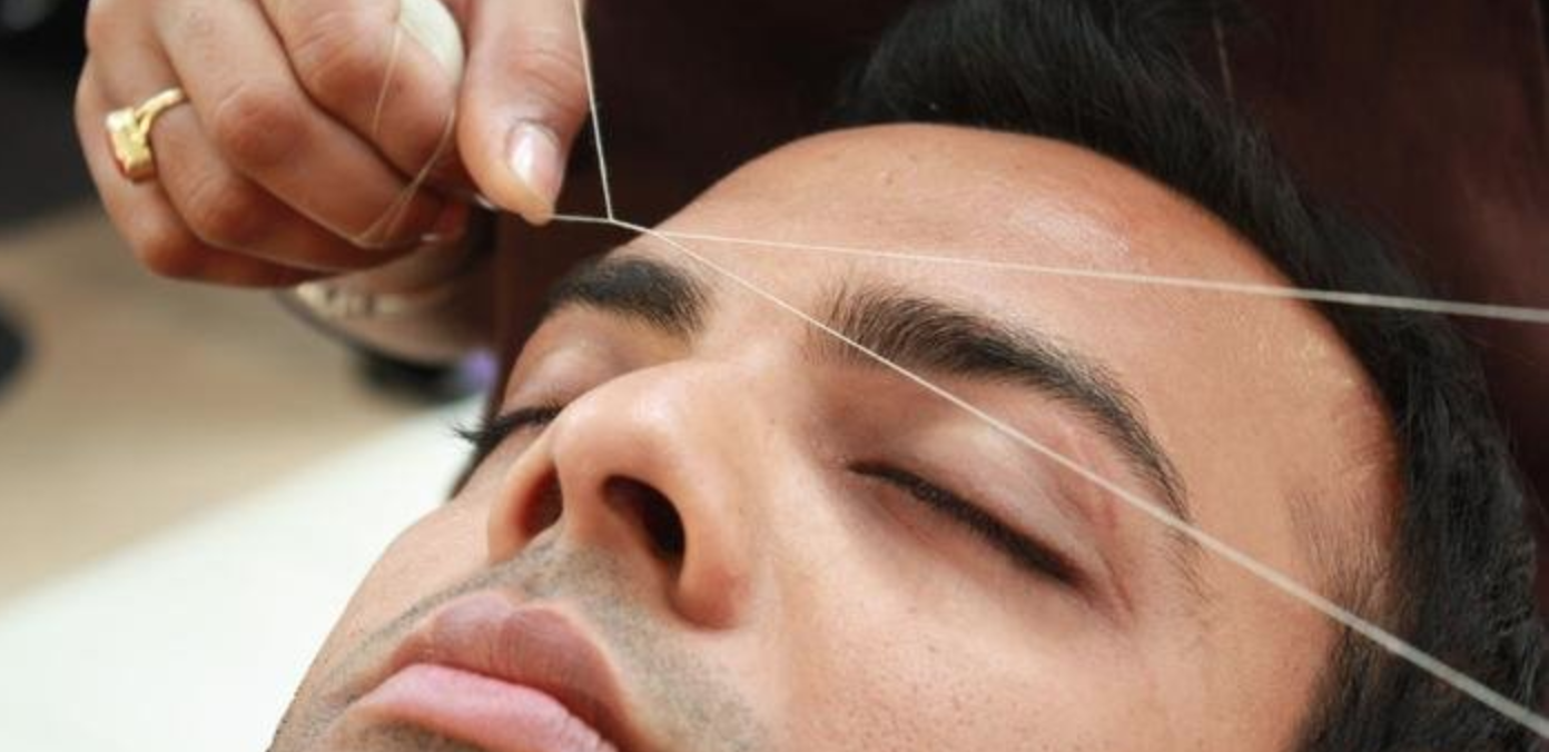 men's eyebrow threading