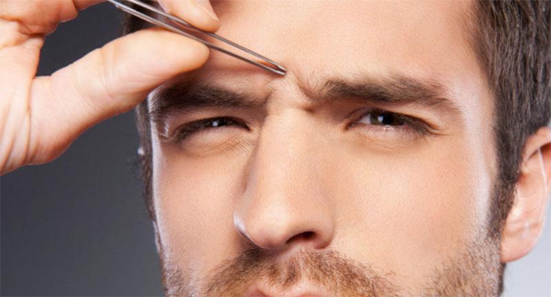 men's face threading