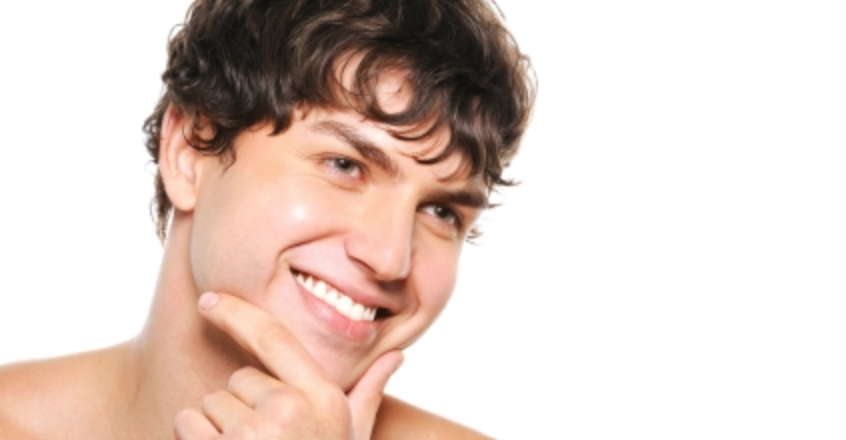 men's face waxing